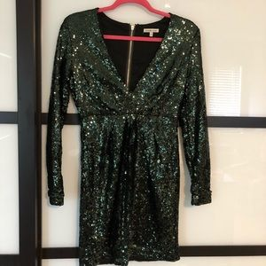 Charlotte Russe emerald sequined dress